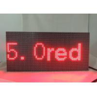 Buy cheap Dot Matrix LED Display Signs 5.0 Single Red Module Refresh Frequency ≥ 120HZ from wholesalers