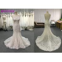 Wholesale Spring And Summer Elegant Mermaid Style Wedding Dress Floor Length Embroidery from china suppliers