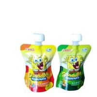 Buy cheap Custom Logo Printing Fancy Stand Up Plastic Fruit Juice Jelly Beverage Packaging Pouch Cheer Pack With Spout from wholesalers