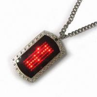 Led dog tag/moving sign red Manufactures