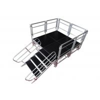 Buy cheap Safety Aluminum Stage Platform / Stable Aluminum Stage Deck With Guardrail product