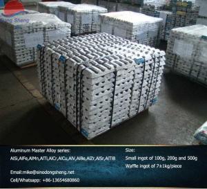 Wholesale AlSi AlMn AlFe AlCr AlTi  AlCu AlZr AlSr AlTiB  Aluminum Master Alloy Hardeners manufacturer from china suppliers