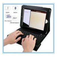Buy cheap FHSS ( Broadcom 2042 Chip ) Wireless Ipad Leather Case Bluetooth Keyboard from wholesalers