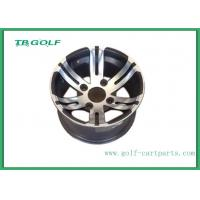 Buy cheap 12 Inch Aluminum Matte Black Wheels Silver Color For Golf Cart 12x7 Machined from wholesalers