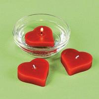 Buy cheap Red Heart-shaped Floating Candles for Wedding Reception from wholesalers