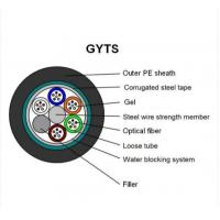 Buy cheap GYTS Multi Strand Fiber Optic Cable Min 8.8mm±0.2mm Cable Diameter ISO Assured from wholesalers