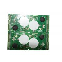Buy cheap White Printing 1.6mm PCB Board Fabrication FR4 Material Green Solder Mask from wholesalers