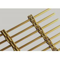 Buy cheap Fluorine Carbon Gold Color Decorative Metal Mesh Divider For Screen Partition from wholesalers