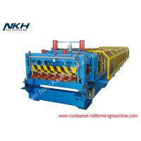 Buy cheap Metal Roof Glazed Tile Roll Forming Machine , Roof Tile Manufacturing Machine from wholesalers