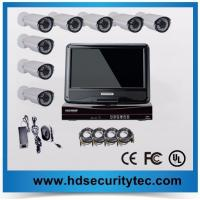 10INCH LCD 720P 8ch AHD dvr kit Analog HD camera Bullet and dome system Manufactures