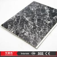 Recyclable Marbling Decorative Ceiling Panels Black / PVC Ceiling Tiles Manufactures
