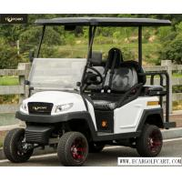 China Outdoor Luxury 4 Person Golf Cart With Polymer Plastic Body , Rear Drum Brake on sale