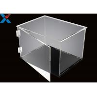 Buy cheap Rectangle Acrylic Display Box Open Door Assembled Clear Dust Storage Box from wholesalers