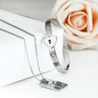 Buy cheap Hot Fashion Couples Eternal Love Loyalty Promise Key Lock Bangle+ Necklace Set from wholesalers