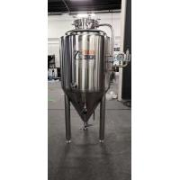 Buy cheap SUS 304 300 L Beer Brewing Fermenter , Cylindrical Fermenter With Cooling Jacket from wholesalers