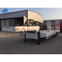 Buy cheap High Strength Low Bed Semi Trailer 13000*3000*1650mm With Fuwa Brand 13 Tons Axles from wholesalers