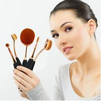 Buy cheap Beauty Toothbrush Looking Makeup Brushes Rose Gold Face Makeup Brush Set from wholesalers