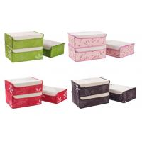 Wholesale Green Stockings Foldable Storage Box , Pink Decorative Storage Boxes 33x24x12cm from china suppliers