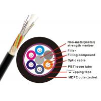 Buy cheap Non Metallic GYFTY Fiber Optic Armoured Cable G652D 12 24 30 48 Core PE HDPE G657A2 from wholesalers
