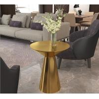 Buy cheap Contemporary design Round Gold stainless steel High Bistro table Pub table for hotel Club Cafe from wholesalers