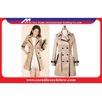 Buy cheap Double Breasted Long Trench Jacket Womens Winter Outerwear , Waterproof from wholesalers