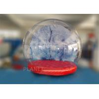 Buy cheap 0.5mm PVC Trapaulin Outdoor Inflatable Snow Globe For Amusement Park from wholesalers