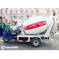 Buy cheap 3 Wheel 28 - 32hp 2m3 Concrete Mixer Truck With Air Brake System Hydraulic Steering from wholesalers