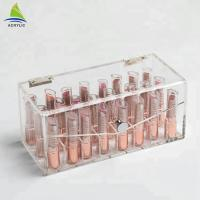 Buy cheap Transparent acrylic makeup lipstick display case make up Organizer from wholesalers