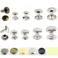 Buy cheap Factory outlet 5mm-12mm double side brass Stainless steel iron mushroom or caps tube rivet for handbag jeans cloth shoes from wholesalers