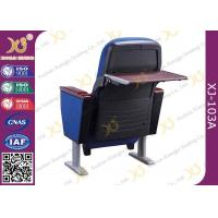 Buy cheap 2 Seater Polyethylene Theatre Plastic Blow Mould Seating Chairs Folded Tablet In from wholesalers