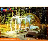 Wholesale Transparent Igloo Dome Tent / 0.6mm PVC Tarpaulin Inflatable Bubble Tent from china suppliers