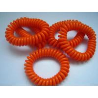 Buy cheap Top China quality orange fashion color spiral wrist coil keychain key ring holder hot sale from wholesalers