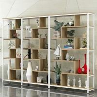 Buy cheap Wood And Black Metal Shelves , Wood And Iron Bookcase Office Furniture Home Hotel from wholesalers