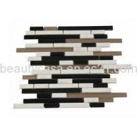 Wholesale Coffee Glass Mix Black White Marble Mosaic 13*98*8mm from china suppliers