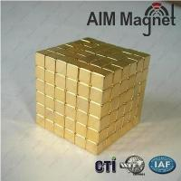 Buy cheap Wholesale Nickel coating n50 5x5x5mm rectangle magnet from wholesalers