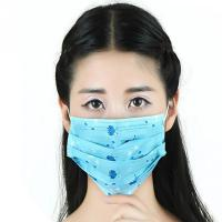 Buy cheap Personal Safety Daily Disposable Face Mask Printed Dust Proof With Spunlace / Spunbond from wholesalers