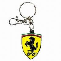 Buy cheap 3-D Soft PVC Keychain, Suitable for Promotional Gifts, Customized Logos and product