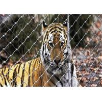 Buy cheap Weatherproof Bird Enclosure Netting , 316 Stainless Steel Rope Net For Tiger product