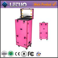 Buy cheap LT-MCL0002 aluminum beauty  makeup cosmetic case makeup case with lighted mirror from wholesalers