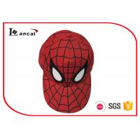 Buy cheap Spider Man Adjustable Red Baseball Caps Hats Embroidered For Children from wholesalers