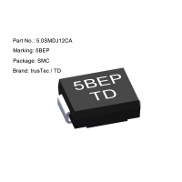 Buy cheap High Power SMD TVS Diode 12v 5000W 5.0SMDJ12CA Clamping Voltage 19.9V from wholesalers