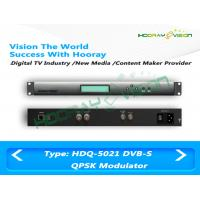 Buy cheap QPSK DVB-S Modulator Anti - Jamming 50Ω F Type Output 1.5M - 45Mps Symbol Rate from wholesalers