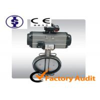 China Wafer Type Cast Iron Pneumatic Butterfly Valve for Fluid Control on sale