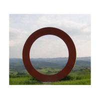 Buy cheap Contemporary Large Outdoor Metal Art Corten Steel Ring Sculpture from wholesalers