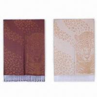 Buy cheap Animal Pattern Pashmina Shawls, Eco-friendly, Available in Various Colors from wholesalers