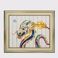 Buy cheap Dragon Chinese Zodiac Artwork , Framed Decorative Paintings For Living Room from wholesalers