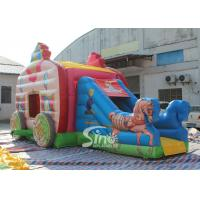 Buy cheap Kids Pink Princess Carriage Inflatable Bouncy Castle Slide With Lead Free Material product