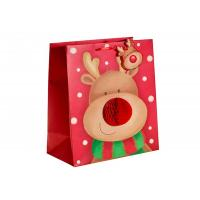 Buy cheap Custom Design Merry Christmas Xmas Paper Gift Bags With Honeycomb and POP UP attachment from wholesalers