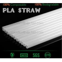 Buy cheap Disposable Paper Straws Pure white Drinking Straws party straw, PLA plastic drinking straw from wholesalers