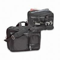 Buy cheap Computer Briefcase, Made of 1680D Ballistic Nylon, Available in Black from wholesalers